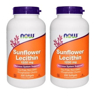 Now Foods 200 Softgels 1,200 mg Sunflower Lecithin