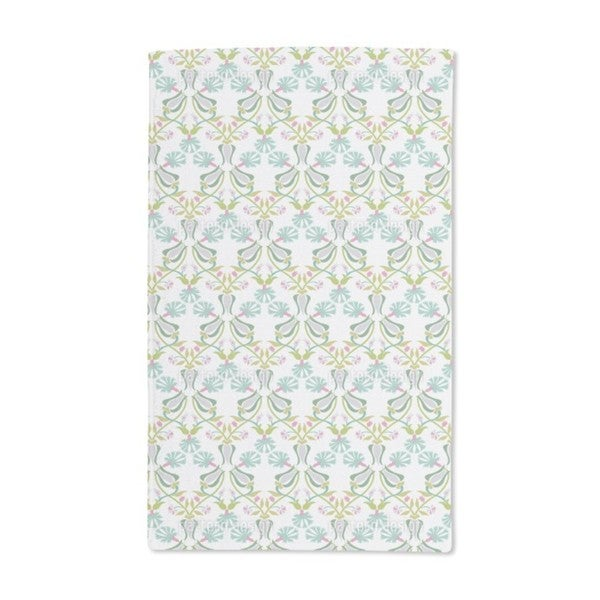 Tulips and Carnations Entwined Hand Towel (Set of 2)