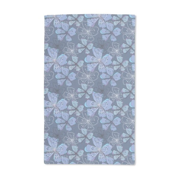 Lovely Blossoms Hand Towel (Set of 2)