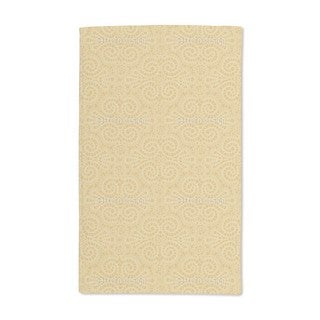 Elegant Lace Pattern in Gold Hand Towel (Set of 2)