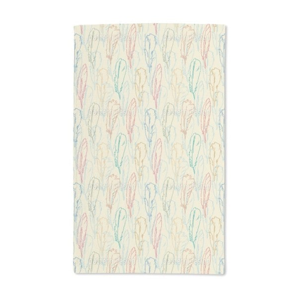 Feathers Handdrawn Hand Towel (Set of 2)