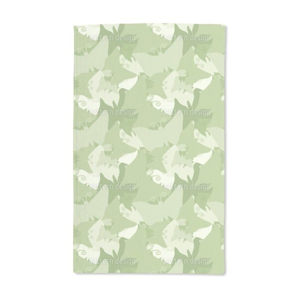 The Journey of the Green Butterflies Hand Towel (Set of 2)
