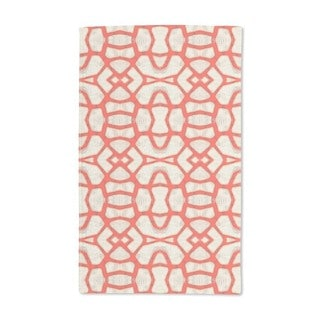 Red Coral Hand Towel (Set of 2)