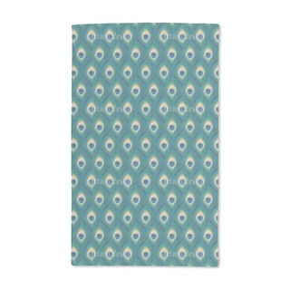 Thousand and One Peacock Feathers Hand Towel (Set of 2)