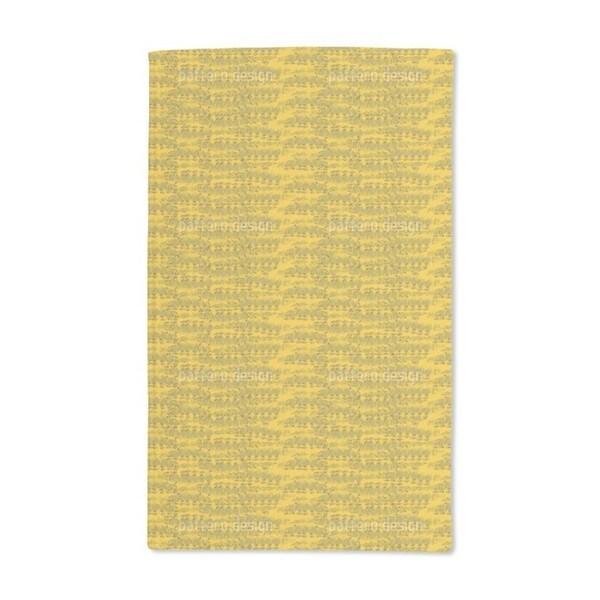 Reptilio Yellow Hand Towel (Set of 2)
