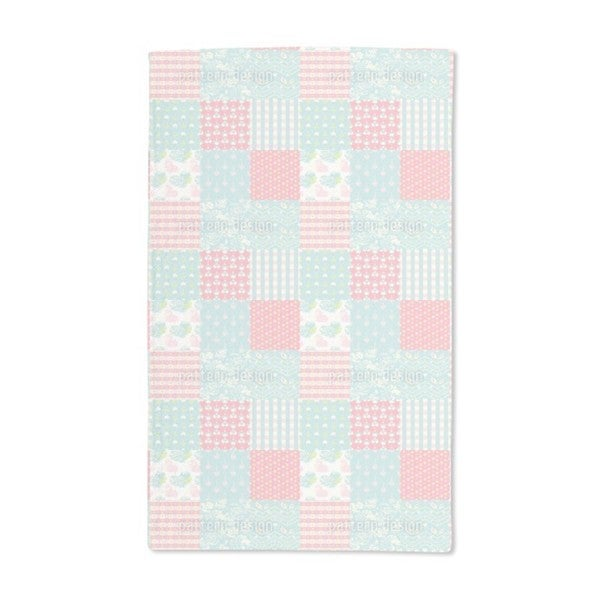 Patchwork Love Hand Towel (Set of 2)