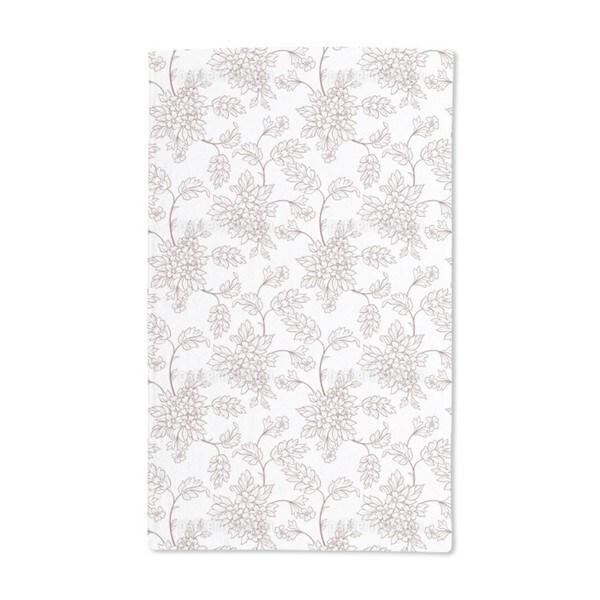 Bouquet Outlines Hand Towel (Set of 2)