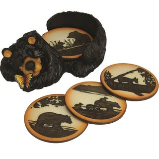 River's Edge Products Coaster Set (Pack of 4)