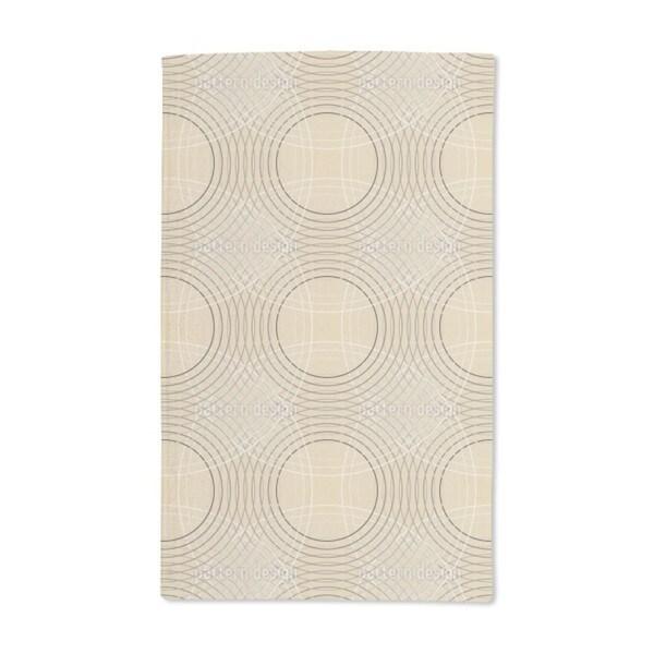 Vertigo Beige Hand Towel (Set of 2)