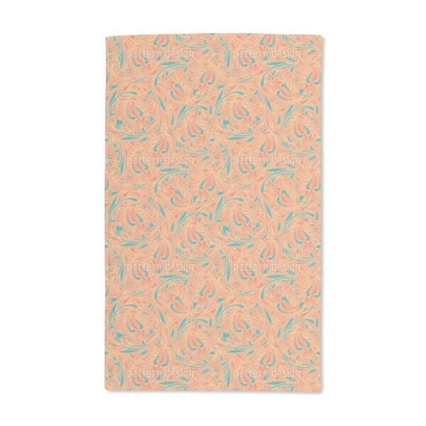 Copper Engraving Orange Hand Towel (Set of 2)