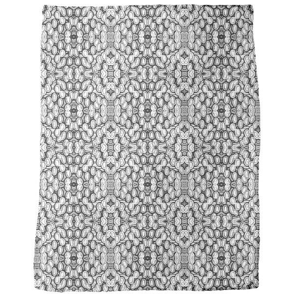 Black and White Pop Fleece Blanket