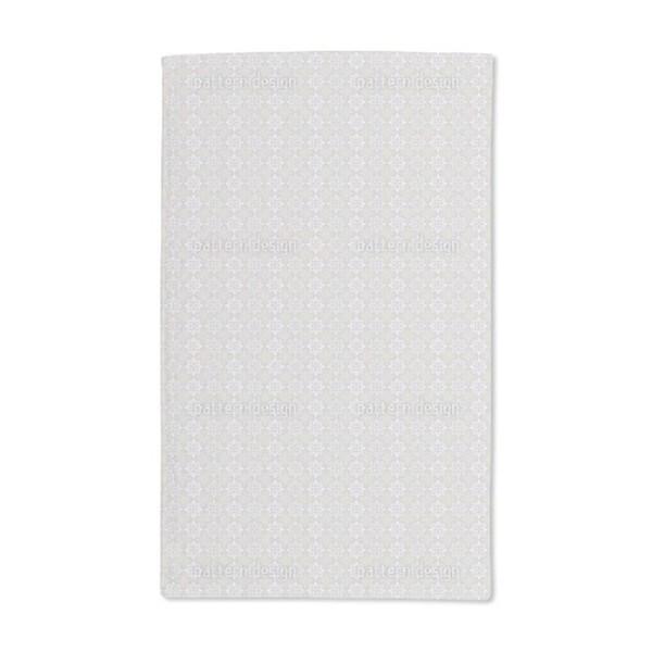 Peaceful Journey Beige Hand Towel (Set of 2)