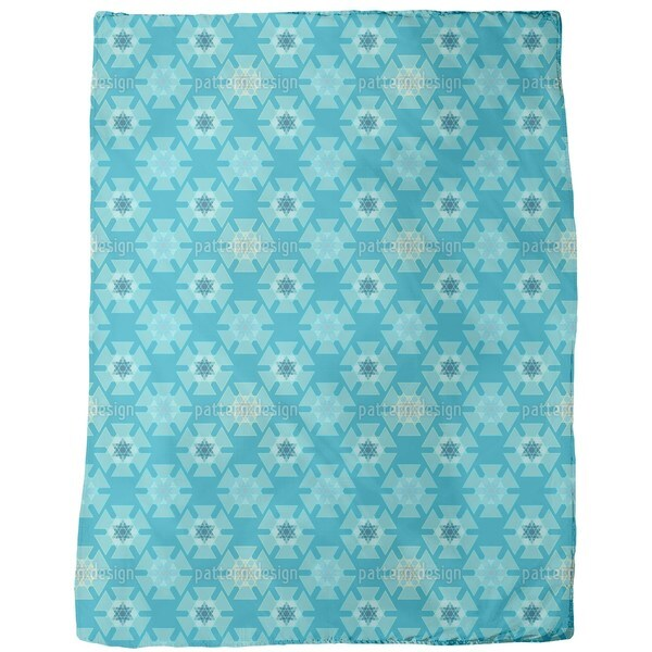 Frozen Triangles Fleece Blanket