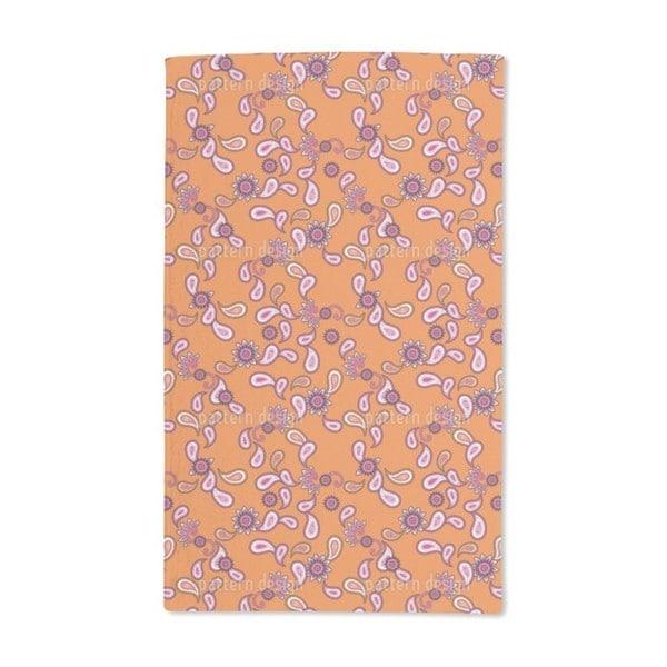 Orange Paisley Hand Towel (Set of 2)