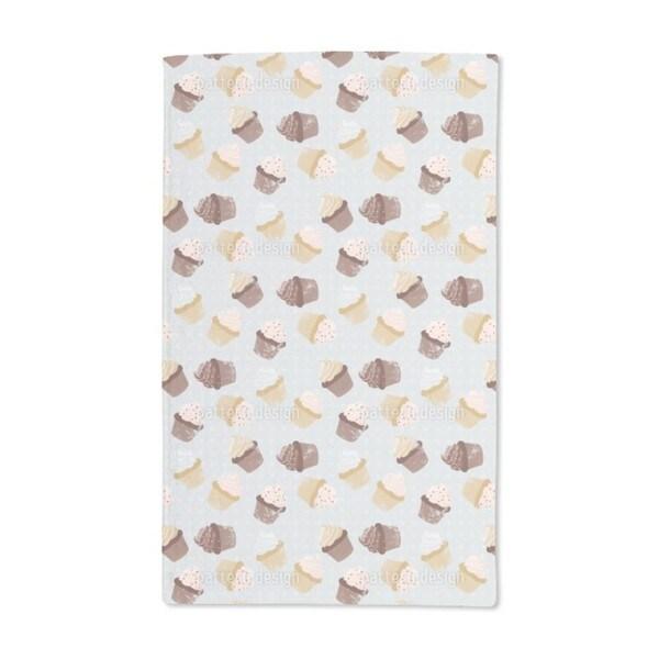 Cupcakes Grey Hand Towel (Set of 2)