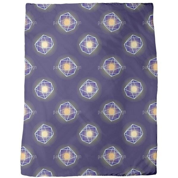 Polygons Shine Fleece Blanket