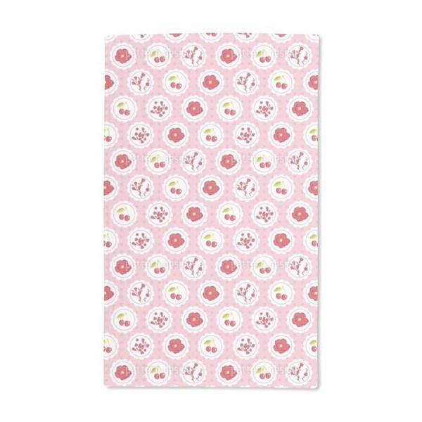 Granny's Cherry Garden Pink Hand Towel (Set of 2)