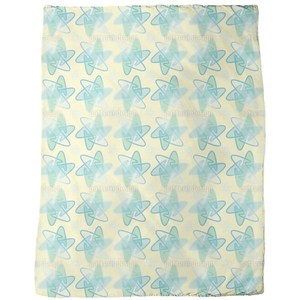 Rounded Stars Fleece Blanket
