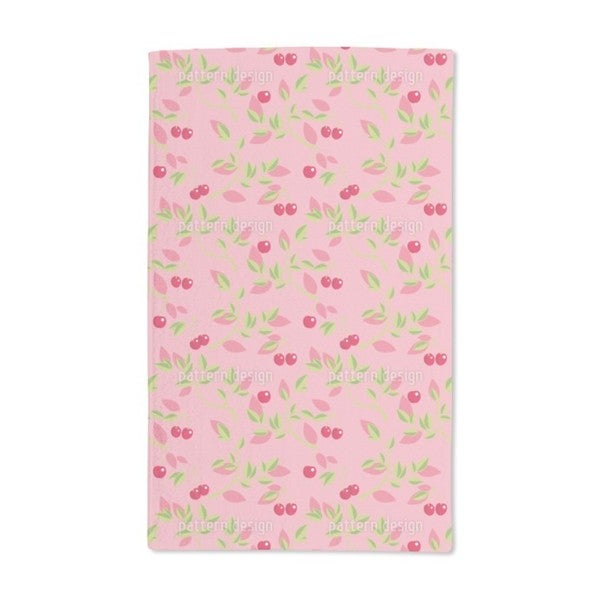 Cherry Branches Pink Hand Towel (Set of 2)