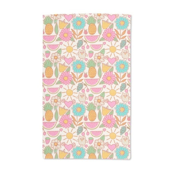 Owls on Vacation Hand Towel (Set of 2)