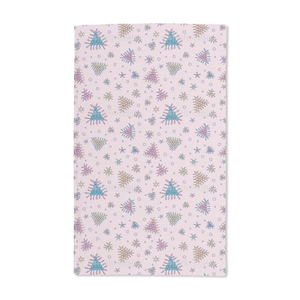 Berry Fall Pink Hand Towel (Set of 2)