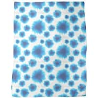 Flower Blots Fleece Blanket