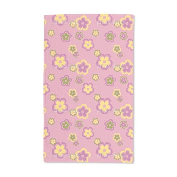 Party Flowers of the Seventies Hand Towel (Set of 2)