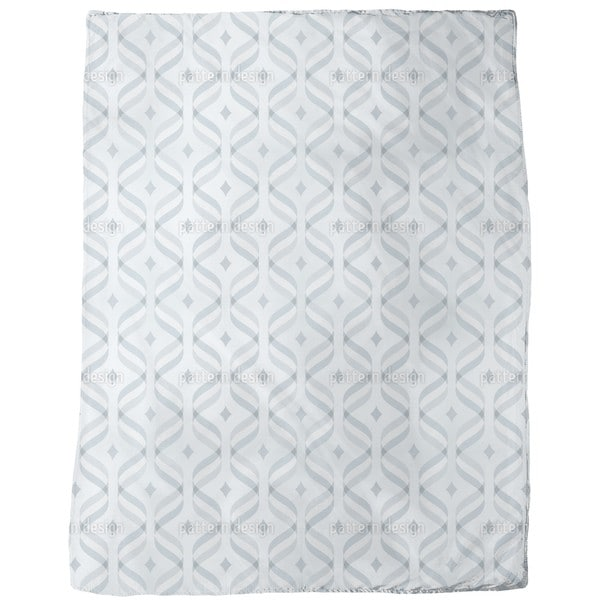 Waves and Diamonds Fleece Blanket
