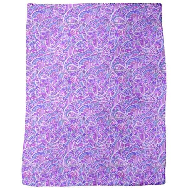 Stream of Paisleys Fleece Blanket