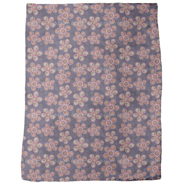 Art Nouveau Blossoms Fleece Blanket
