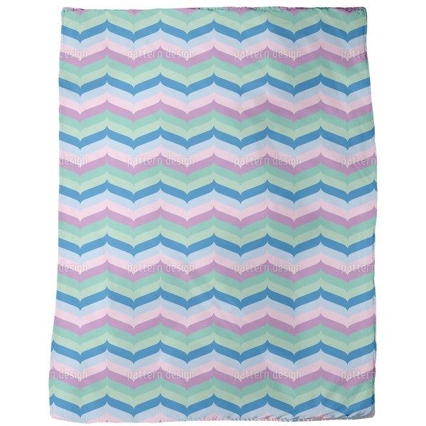 Herringbone Pastel Fleece Blanket