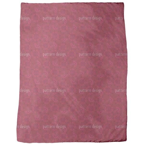 Flora in Cranberry Fleece Blanket