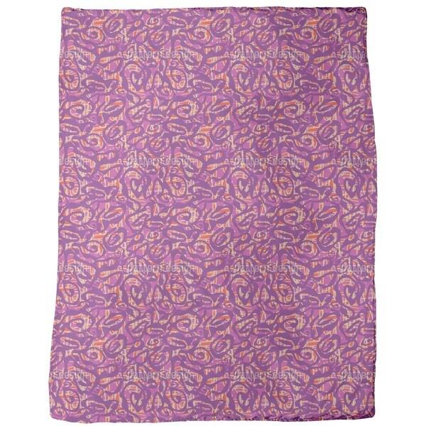 Crazy For Purple Fleece Blanket