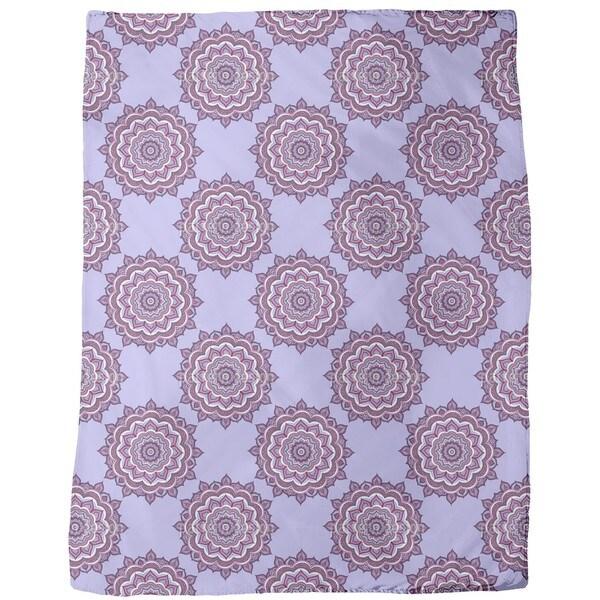Doodle Mandala Fleece Blanket
