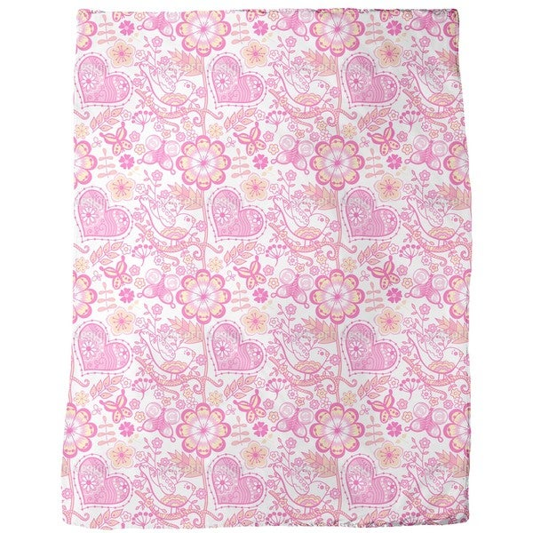 Garden of Sweet Romance Fleece Blanket