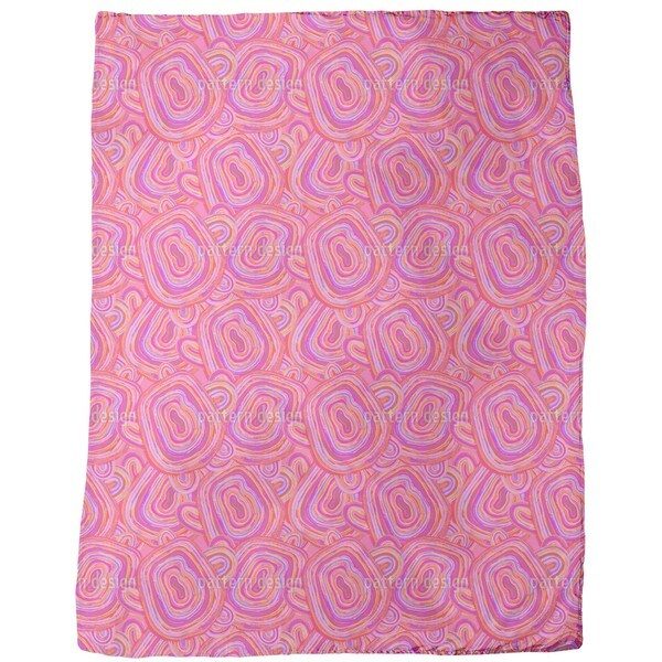 Pink Agate Fleece Blanket