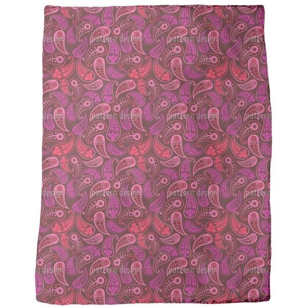 Lovely Paisley Fleece Blanket