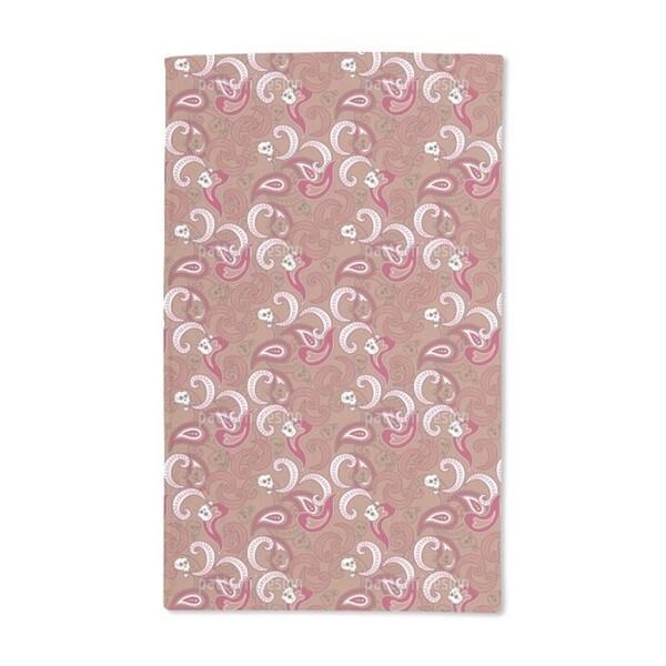 Rocking Orient Brown Hand Towel (Set of 2)