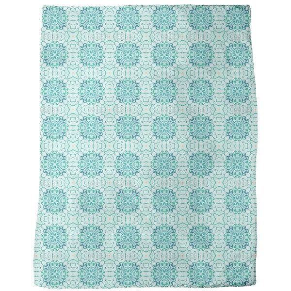 Arctic Floral Fleece Blanket
