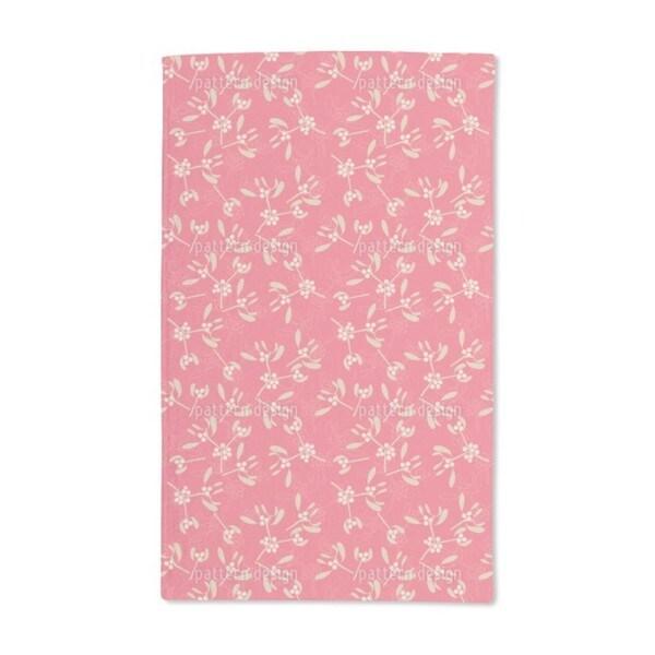 Mistletoe Pink Hand Towel (Set of 2)