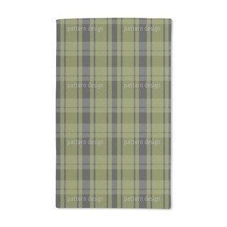 Tartan Black Green Hand Towel (Set of 2)