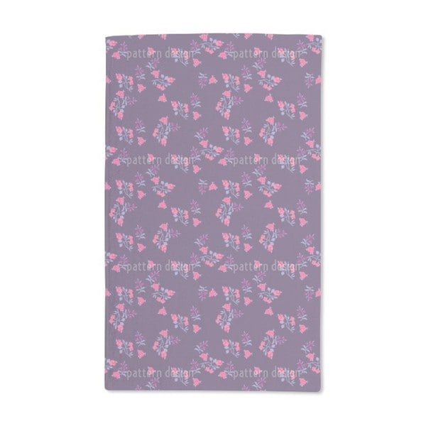 Scattered Flowers on Lilac Hand Towel (Set of 2)