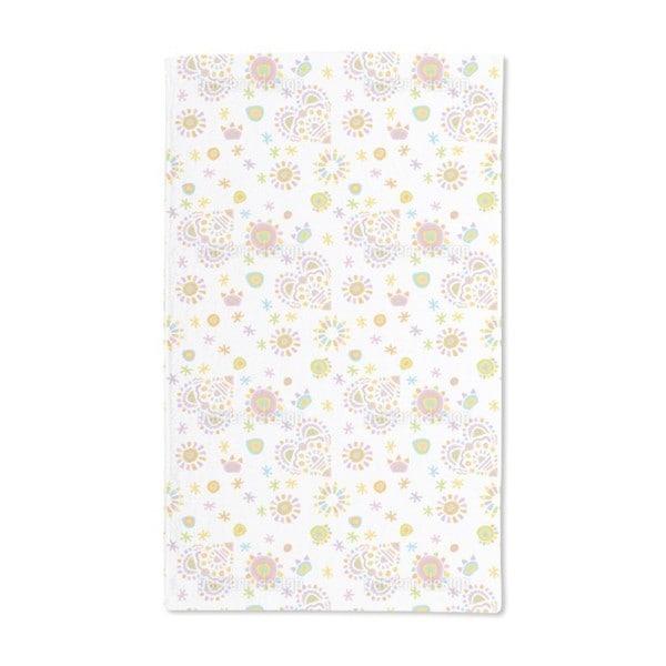 Gipsy Heart White Hand Towel (Set of 2)