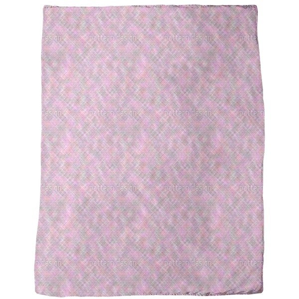 Confusion of the Pink Squares Fleece Blanket
