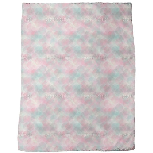 Rose Garden Around Fleece Blanket