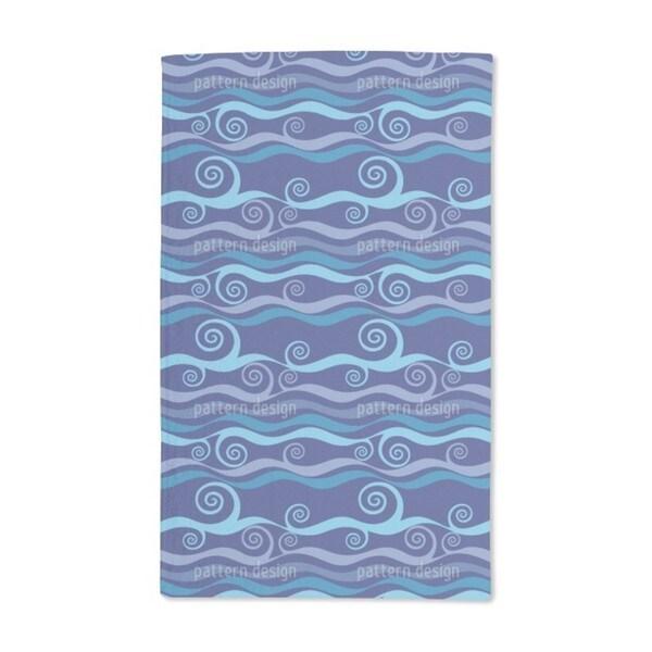 Triton Blue Hand Towel (Set of 2)