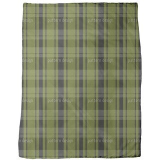 Tartan Black Green Fleece Blanket