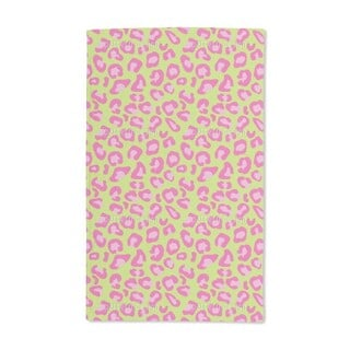 Leopard Animal Print Lime Hand Towel (Set of 2)