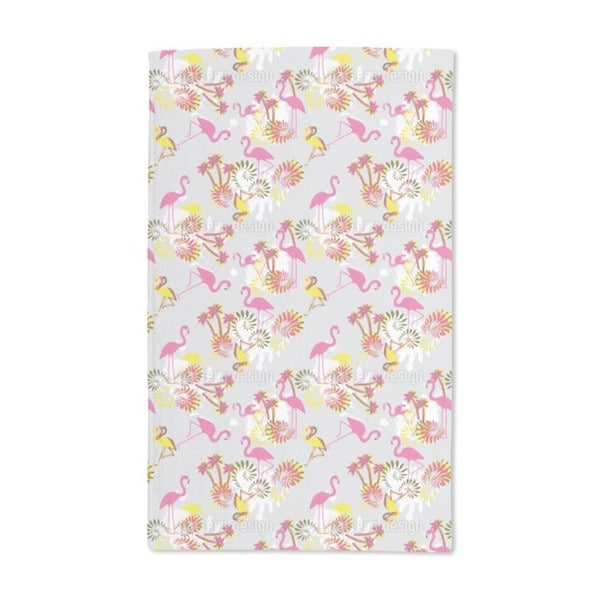 Miami Pink Flamingo Hand Towel (Set of 2)