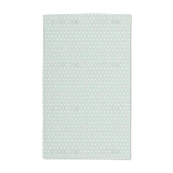 Polka Dots Mint Hand Towel (Set of 2)